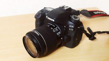 CANON EOS 80Dを購入!初めての一眼レフカメラとして大満足です!