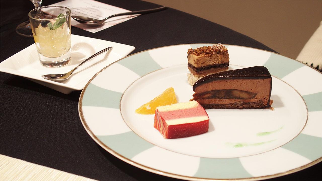 ラ・ロシェル山王の鹿児島フェアのケーキ三種