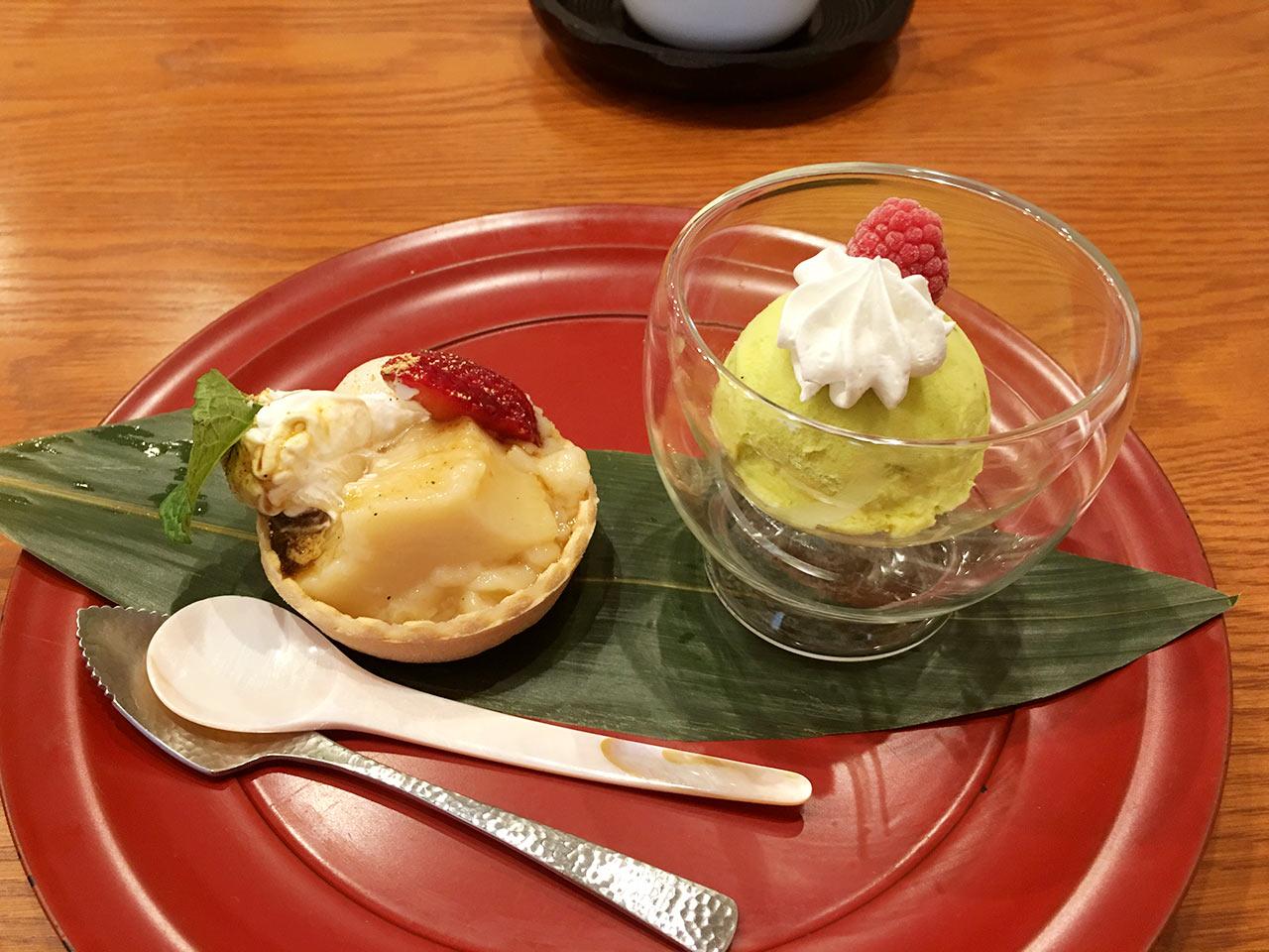 天ぷら割烹うさぎのデザート