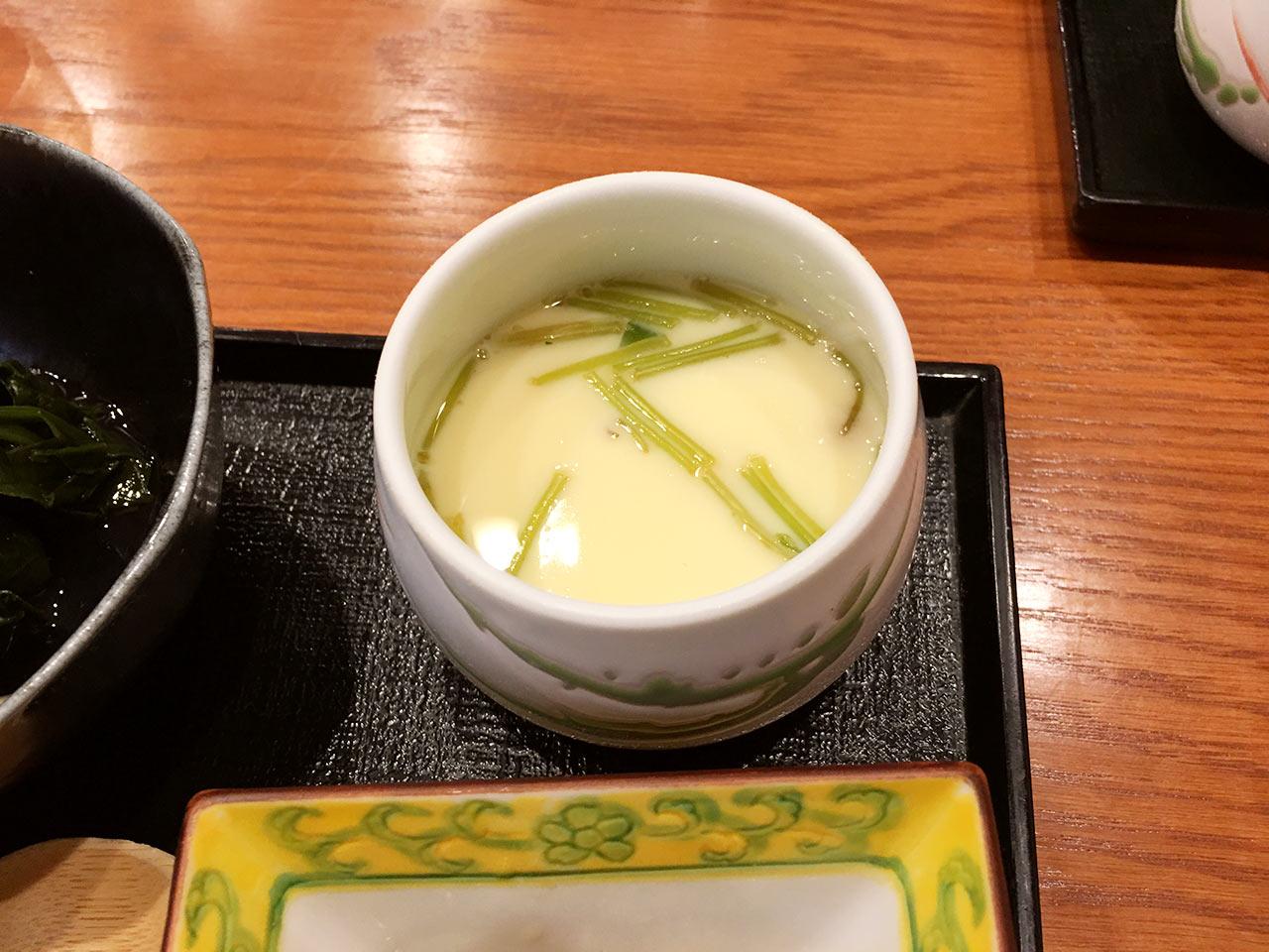 天ぷら割烹うさぎの茶碗蒸し
