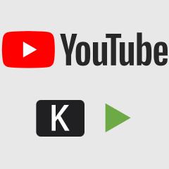 YouTubeの動画を再生させたり停止させたりするショートカットキー「K」