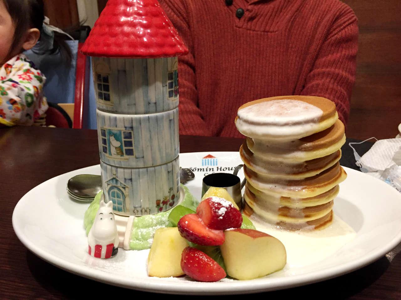 ムーミンハウスカフェのムーミンハウスパンケーキ