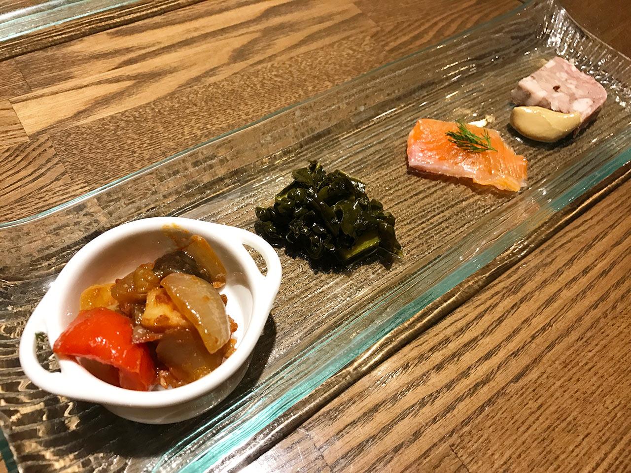 武蔵小山「Shinori(シノリ)」の前菜01