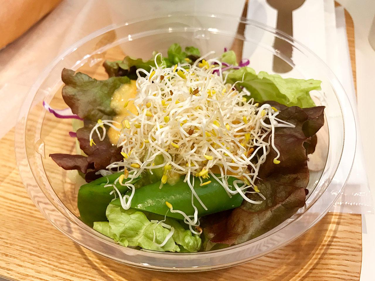 銀座三越「みのりカフェ」のセットのサラダ