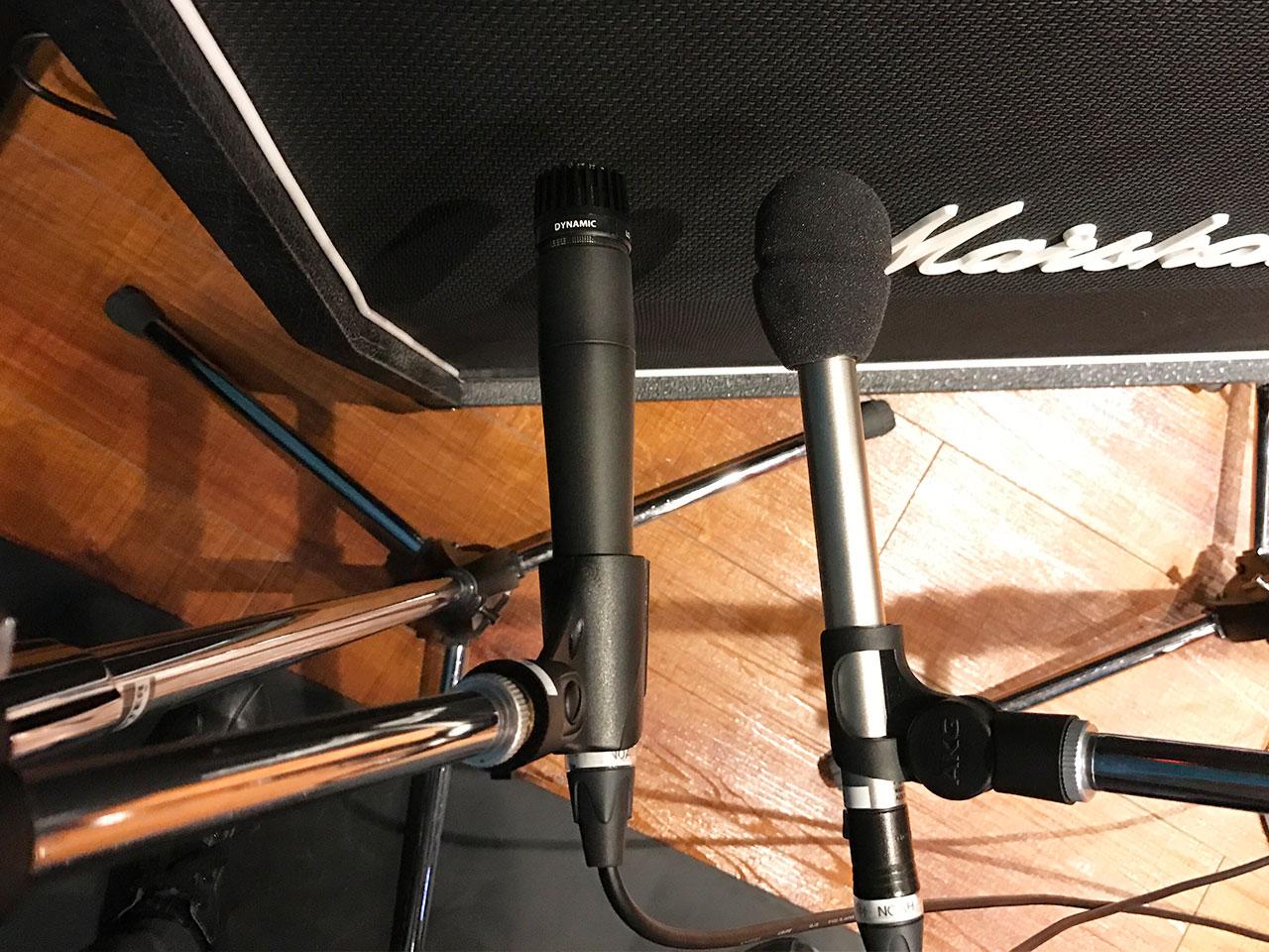 リハスタでギターのアンプ録りしたときのマイク