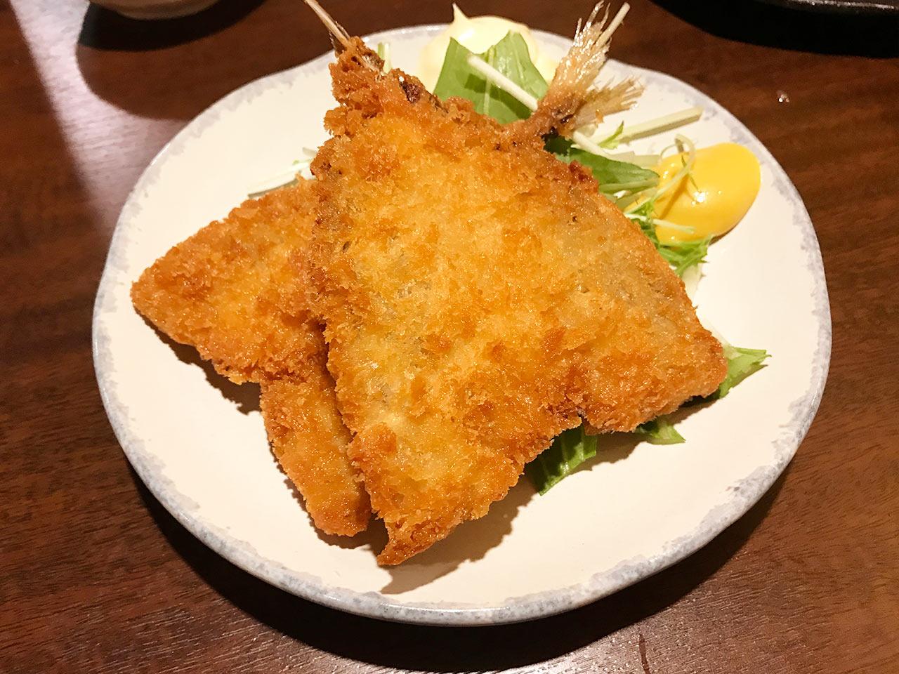 武蔵小山「ぴょん吉」のアジフライ