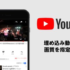 関連記事『YouTubeの埋め込み動画の画質を指定して再生させる方法』のサムネイル画像