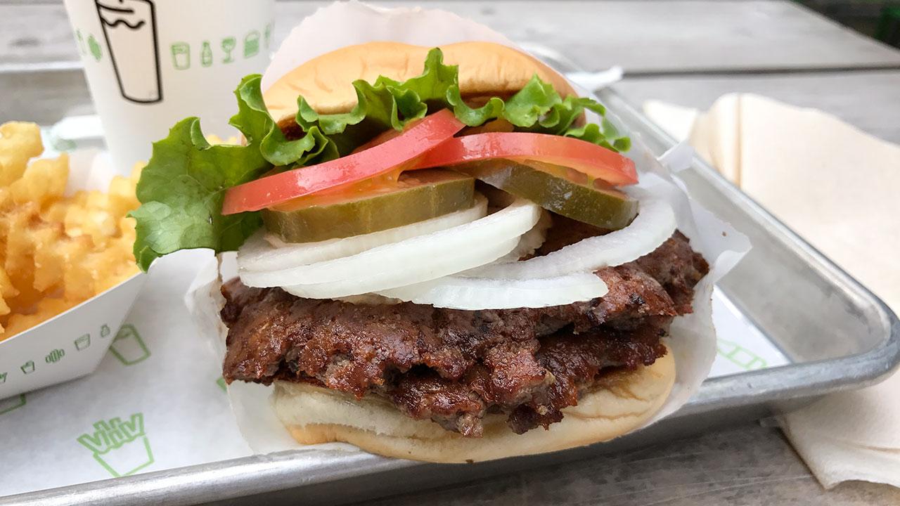 シェイクシャックのハンバーガーダブル