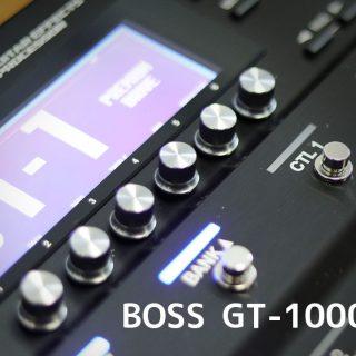 BOSSのマルチエフェクターGT-1000のノブに設定しておくと便利なもの