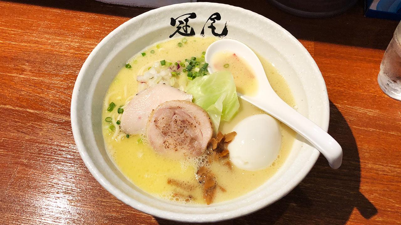 武蔵小山「拉麺 冠尾(カムロ)」の鶏白湯ラーメンが濃厚だけどさっぱりしておいしかった