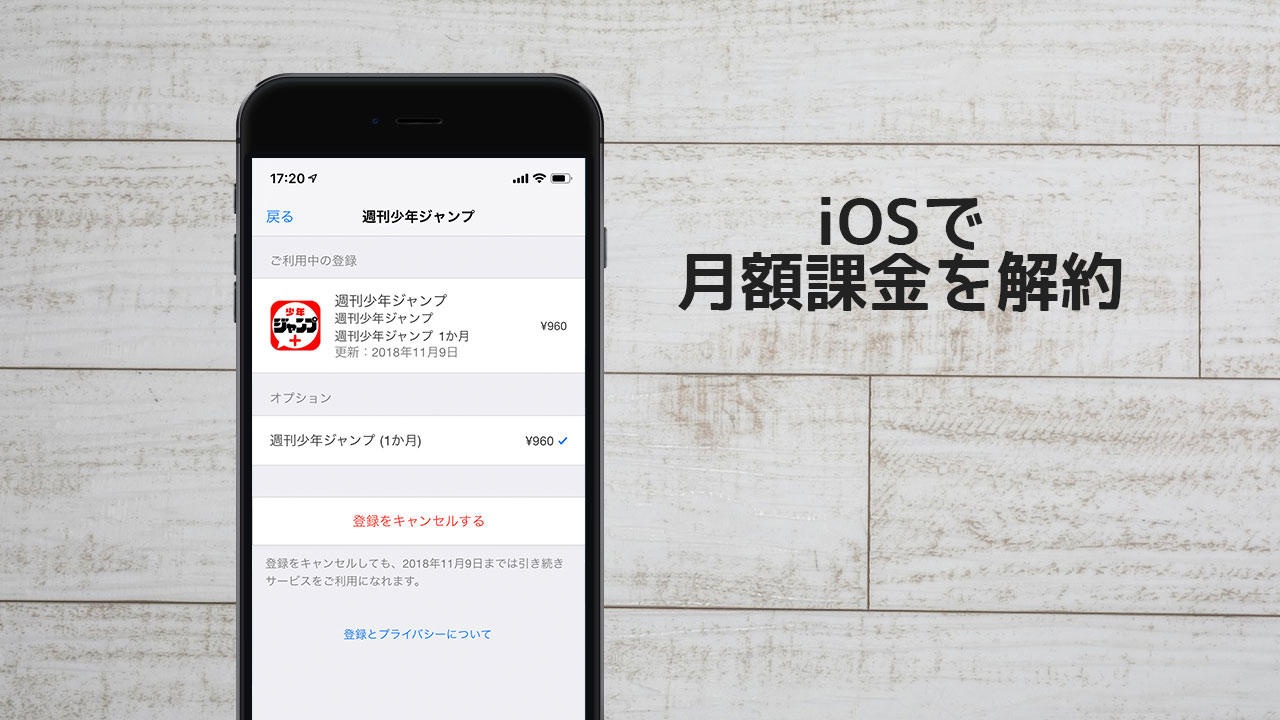 iOSの月額課金「定期サブスクリプション」を解約する方法!
