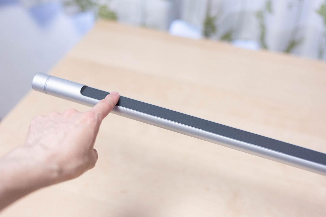 LightStrip Touch Deskの電源を入れるにはタップするだけ