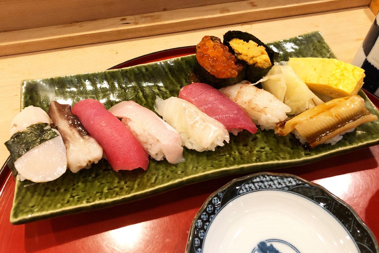 磯はなの握り寿司「雅」全貌