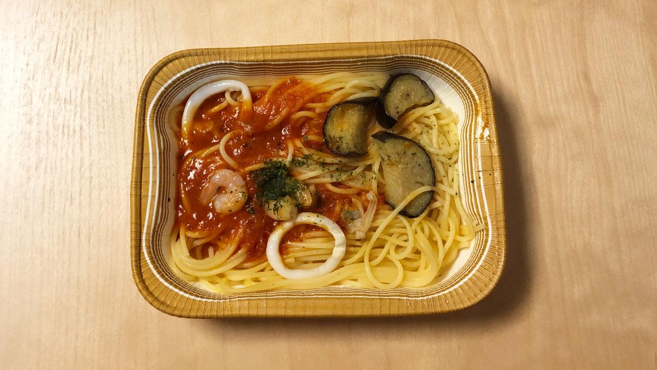 日本製粉の海の幸のペスカトーレが冷凍食品とは思えないほどモチモチでおいしい