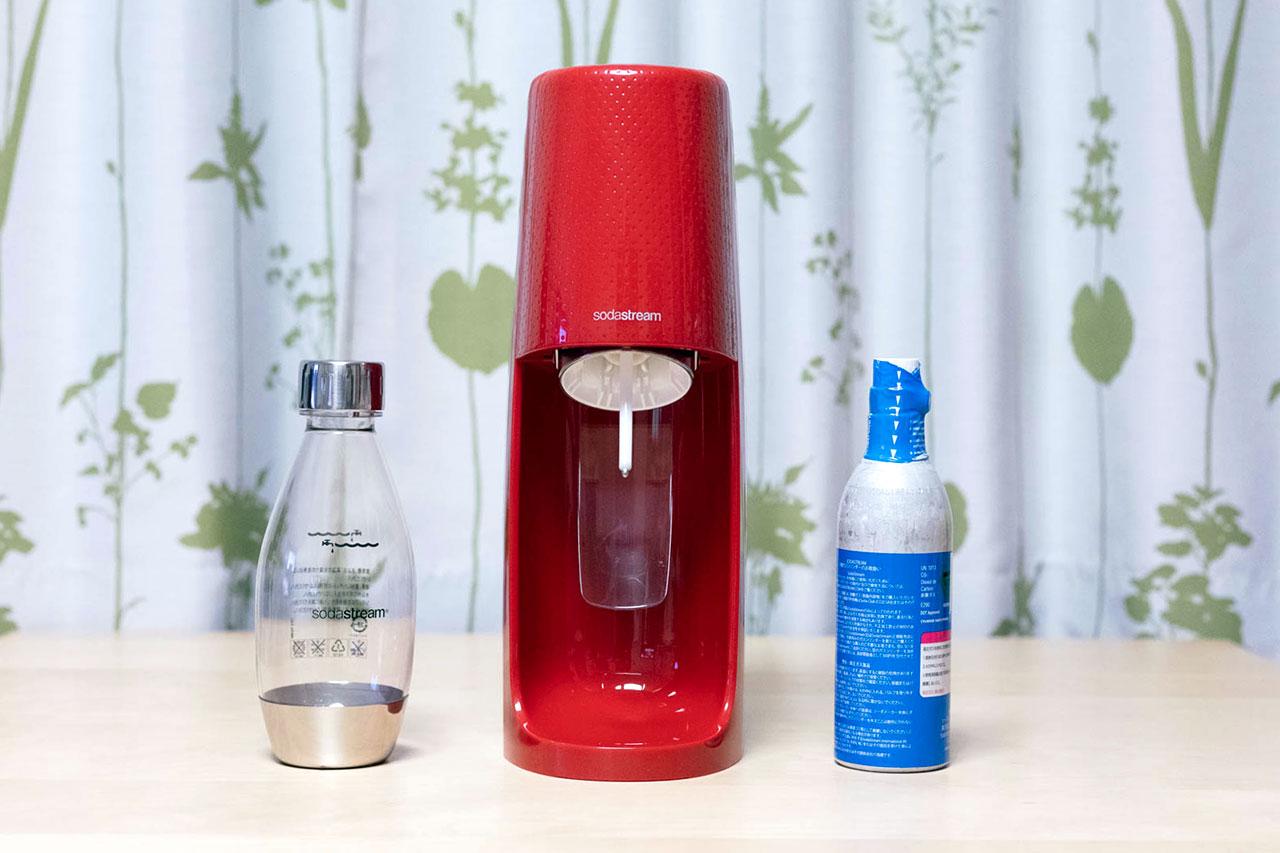 SodaStream(ソーダストリーム)とボトルとガスシリンダー