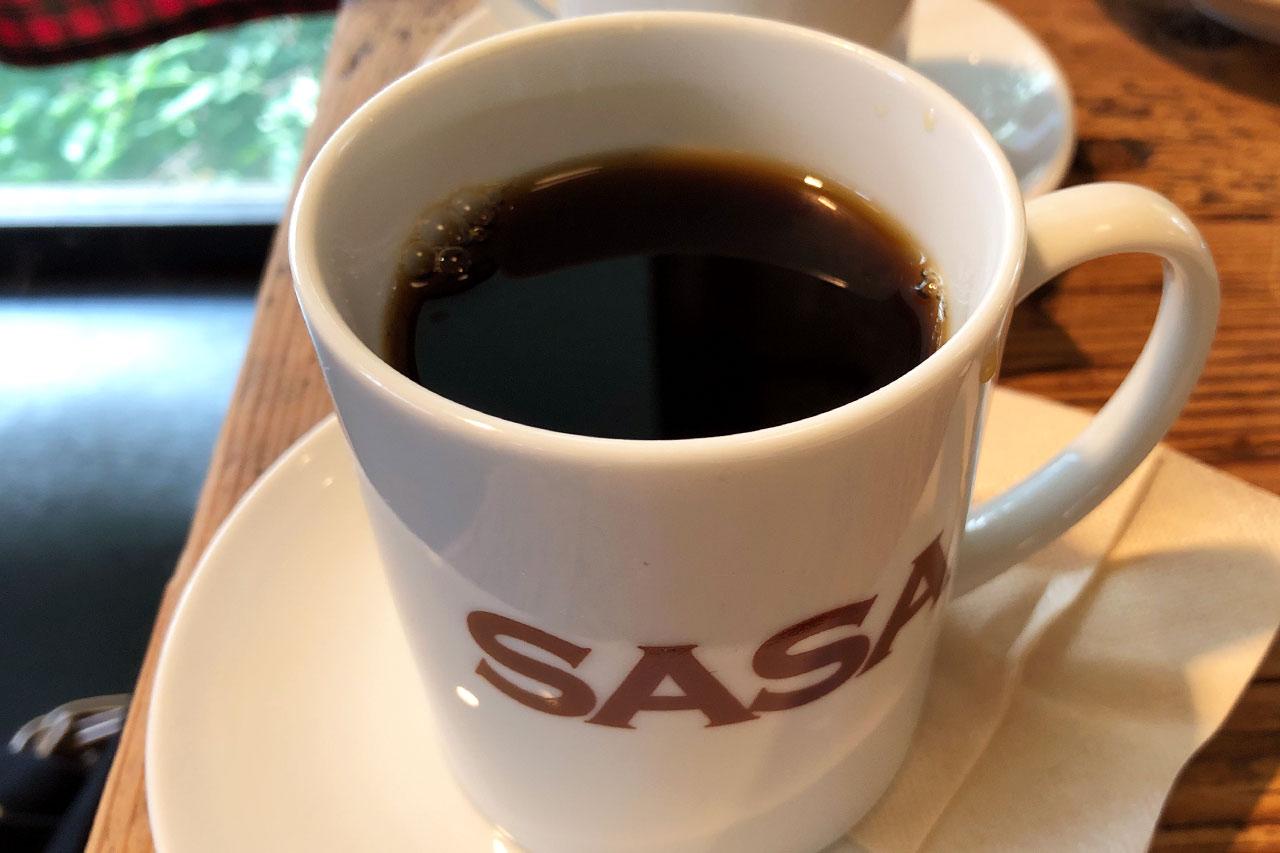 代官山「SASA」のホットコーヒー
