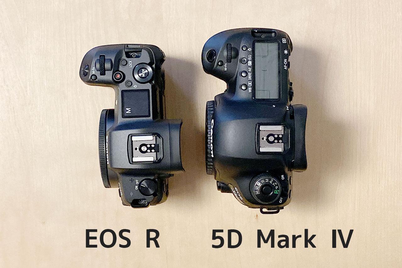 EOS Rと5D4の比較、上からバージョン