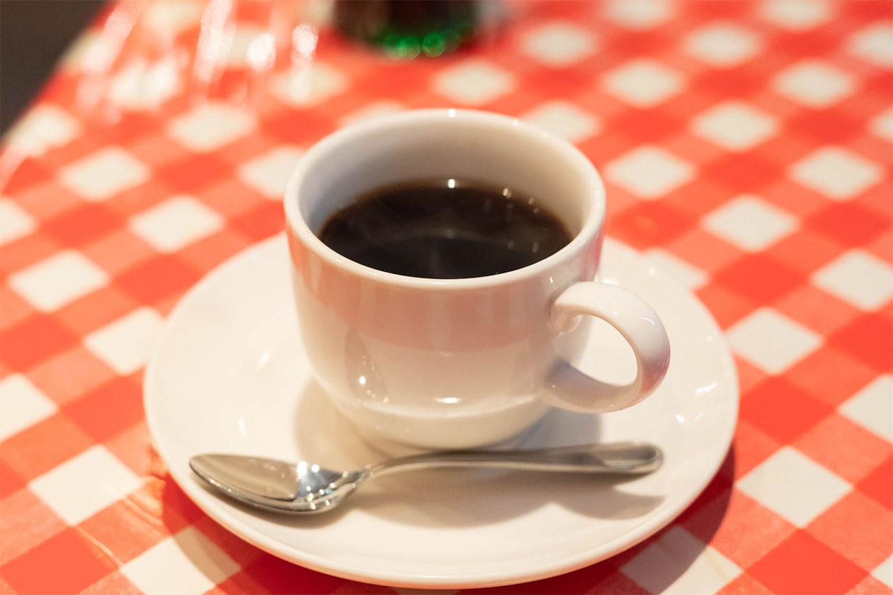 アイコウシャのホットコーヒー