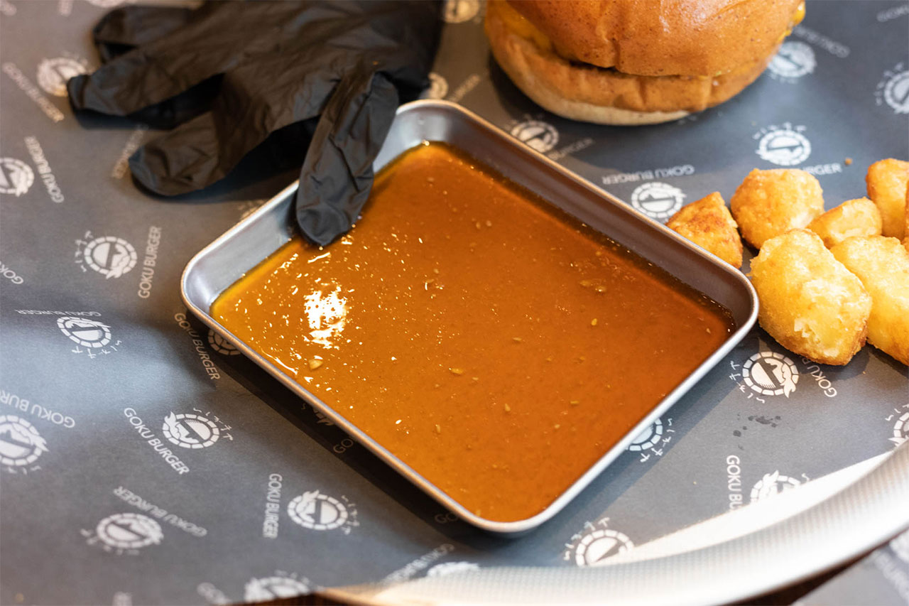 GOKU BURGERのハンバーガーのオリジナルソース