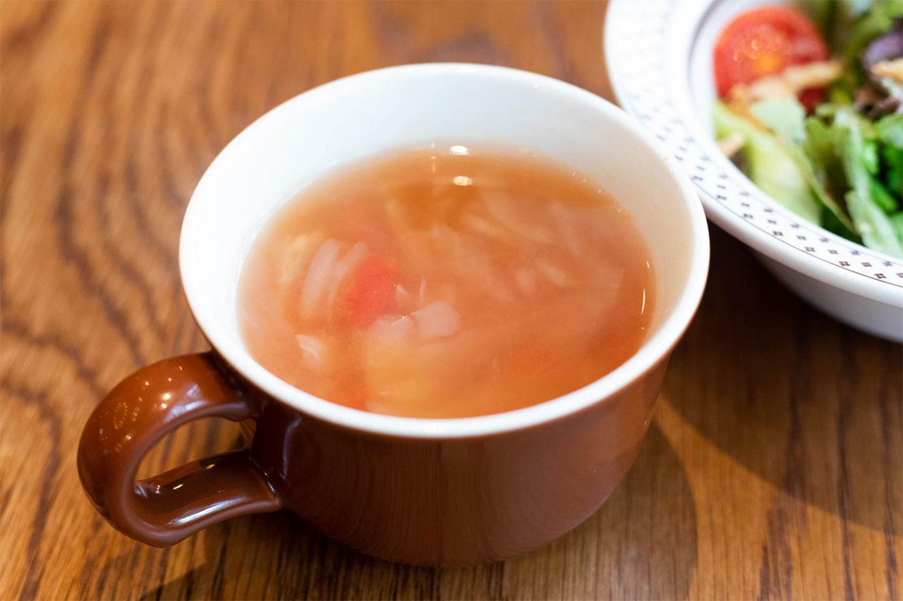 GOKU BURGERのランチセットスープ