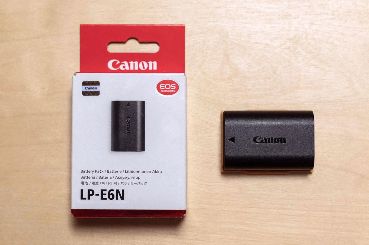 Canon 純正バッテリー LP-E6N