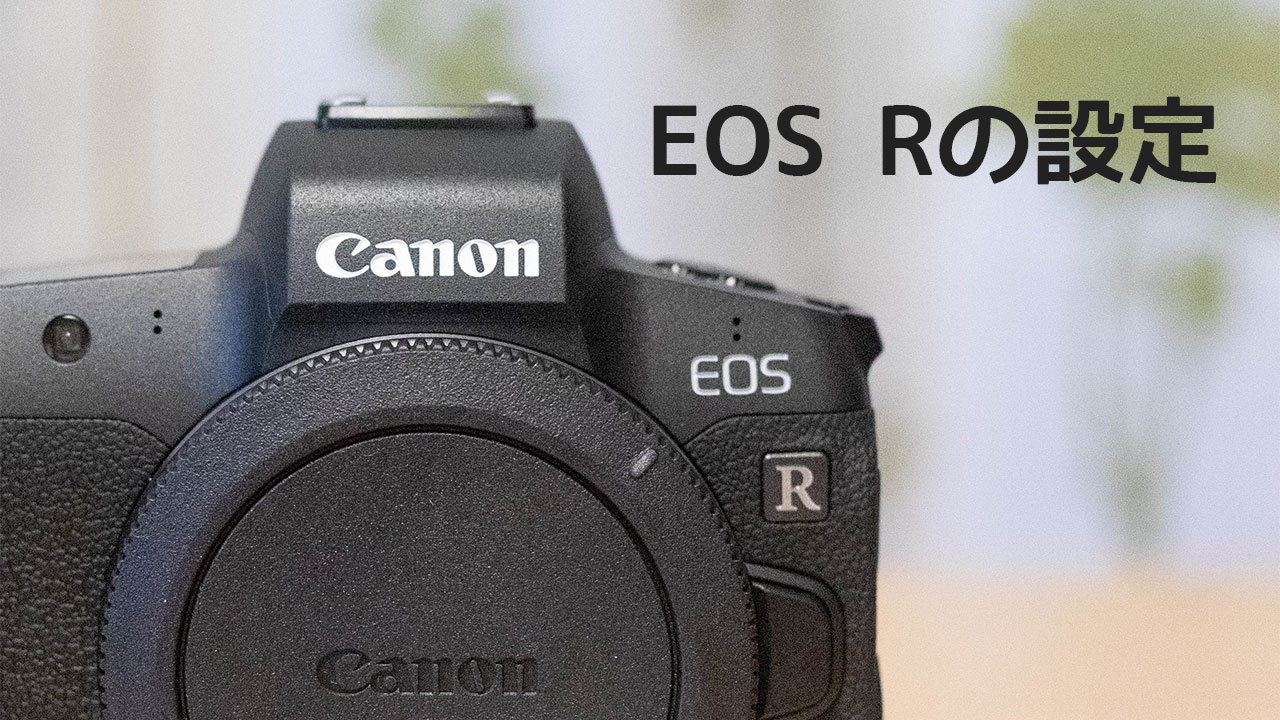EOS R購入直後に設定したこと!マニュアルモードで撮影しやすいように設定しました!