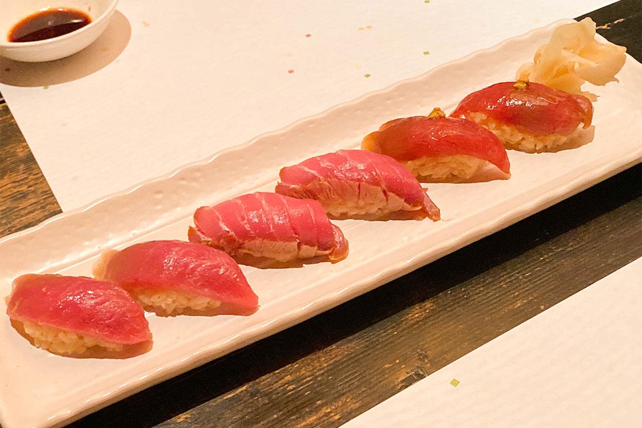 鮨かすみの握り寿司1