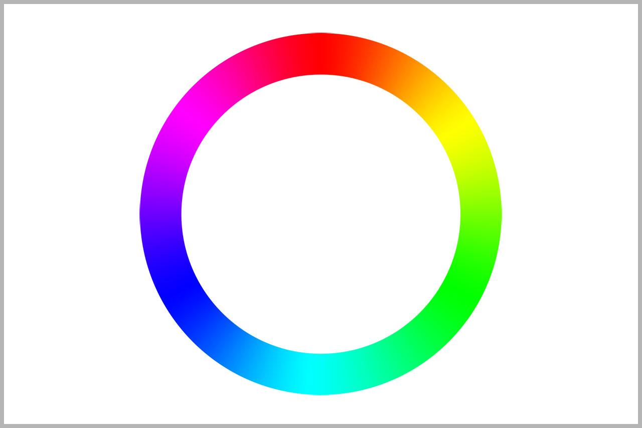 色相環の図
