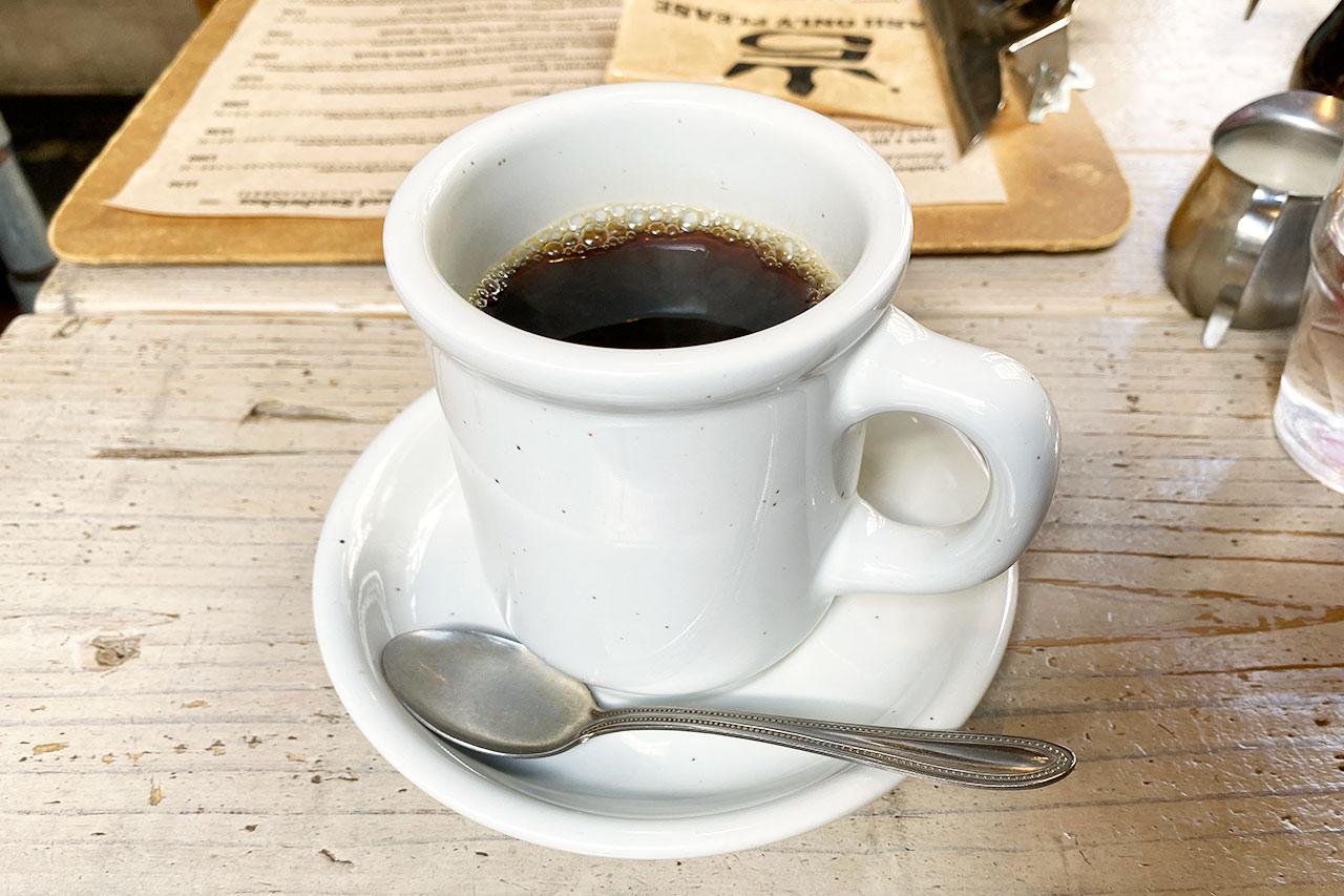 ジェイドファイブのホットコーヒー