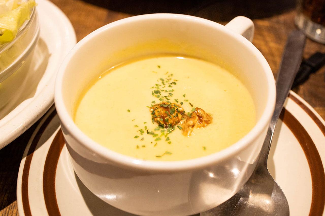 マンチズバーガーシャックのスープ