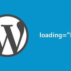 """WordPressの記事内のimgタグにloading=""""lazy""""を追記して読み込みを高速化する方法"""
