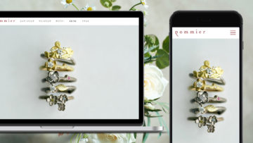 ジュエリーサロン「pommier(ポミエ)」のウェブサイトをリニューアルしました