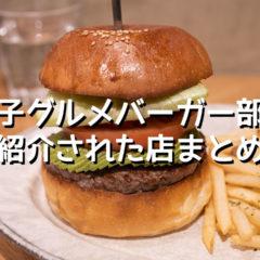 テレビドラマ「女子グルメバーガー部」で紹介されたハンバーガーショップまとめ