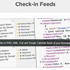 foursquareのチェックインした履歴をGoogleカレンダーで見る方法