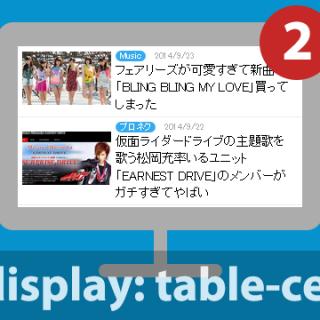 関連記事『【CSS】table-cellを使って関連記事の表示で良く使うリストスタイルのデザインを作る方法』のサムネイル画像