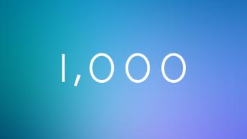 いままで投稿した記事数が1,000記事を超えました