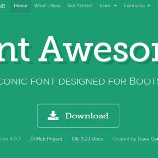 「Font Awesome」のアイコンフォントが良い感じ!これ一つで割となんでもできる!