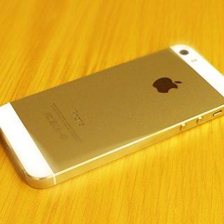 iPhone 5s 64GBモデルのゴールドをauオンラインショップにて購入しました
